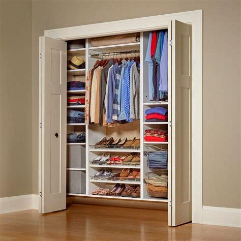 build your own melamine closet organizer organization