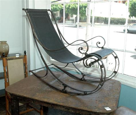 wrought iron rocking chair chairs model