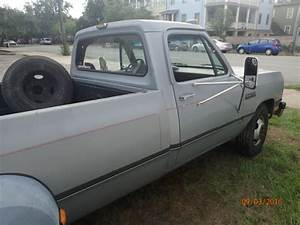 Dodge Ram 3500 Crew Cab Pickup 1991 Gray For Sale