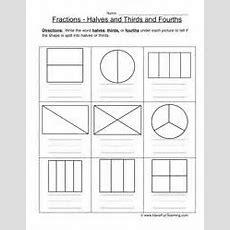 Halves Thirds Fourths Worksheet 1  Problem Solving, Math And Fractions Worksheets