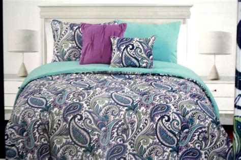 Cynthia Rowley Paisley Bedding by Cynthia Rowley Teal Purple Paisley 2pc Duvet Cover