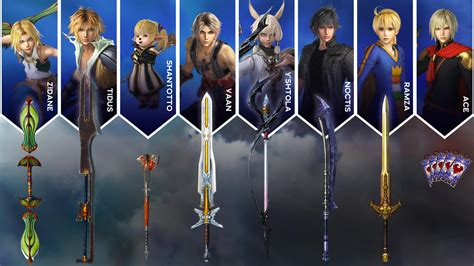dissidia final fantasy nt weapons pack dlc
