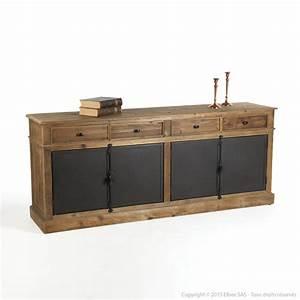 Buffet Cuisine Bois : buffet bas bois et metal ~ Edinachiropracticcenter.com Idées de Décoration
