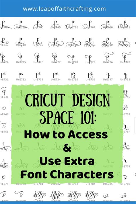 Learn How to Use Extra Font Characters in Cricut Design ...