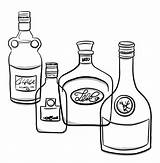 Clip Whiskey Bottle Labels Illustrations Vector Alcohol sketch template