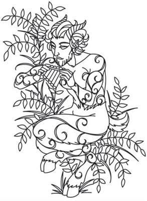 Greek Gods - Pan_image | Coloring pages, Greek gods