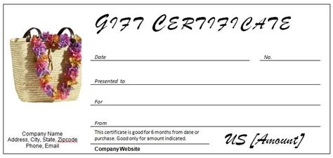 gift certificate templates   occasion