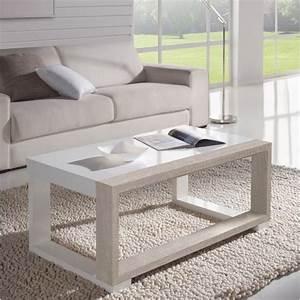 Table Bois Blanchi : table basse relevable bois blanchi et blanc mobilier ~ Teatrodelosmanantiales.com Idées de Décoration