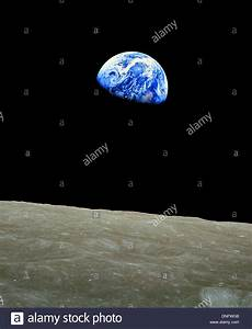 Earthrise, photograph of Planet Earth rising over the ...