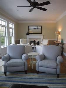 Cool recliner covers in living room traditional with for Several living room ideas can count