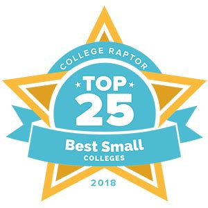 Top 25 Best Small Colleges 2018 Rankings  College Raptor