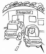 Hospital Coloring Pages Ambulance Printables Getcolorings Printable Pa sketch template