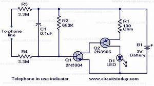 Student Yuva  Circuit For Telephone Off