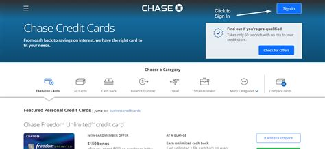Chase Credit Card Online Login