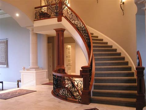 Round Staircase Design by Newels Railings Balusters Banisters Risers And Treads