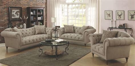 alasdair light brown living room set  coaster