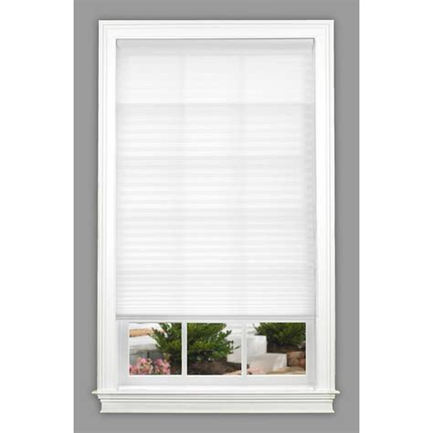 lowes l shade shop allen roth 51 in w x 72 in l white pleated shade at