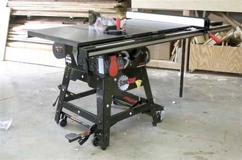 sawstop table saw for sale sawstop contractor saw assembly popular woodworking