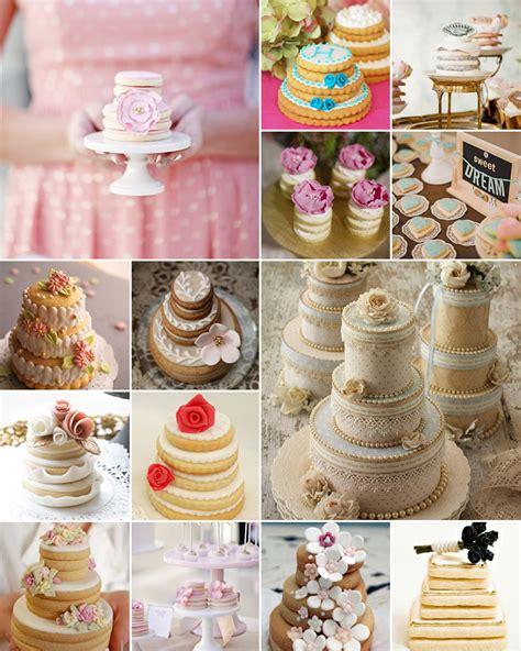 mini wedding cake cookies