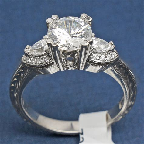 ht2358 tacori diamond platinum engagement ring ebay