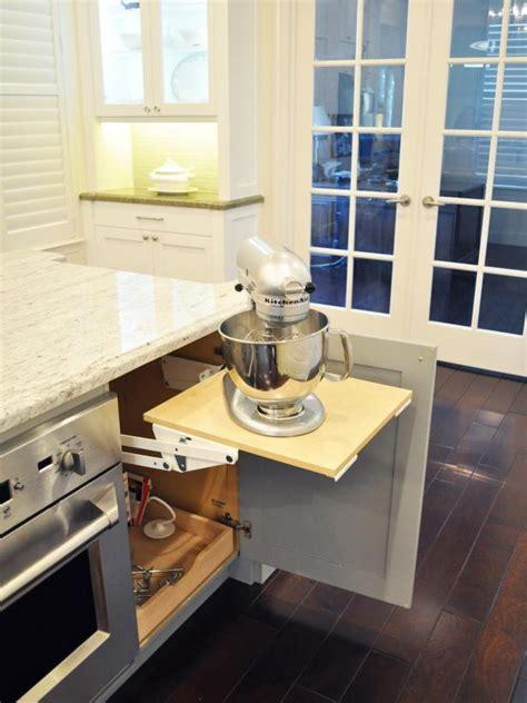 pop  stand mixer storage  gourmet kitchen hgtv