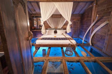 chambre aquarium un plancher de verre inspirés par la transparence