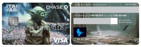 They are offered in two design options: Chase Launches Star Wars Visa Credit Card in U.S.