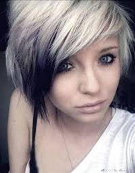 cute short emo hairstyles  teens