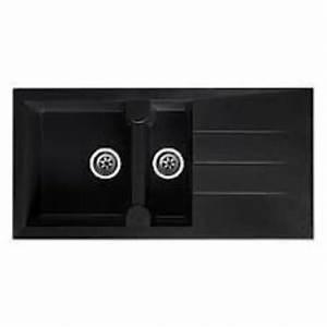 évier En Résine Noir : evier gouttoir paros en r sine composite 998x498mm ~ Premium-room.com Idées de Décoration