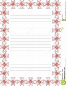 vector blank for letter card or charter white paper form With letter paper with borders