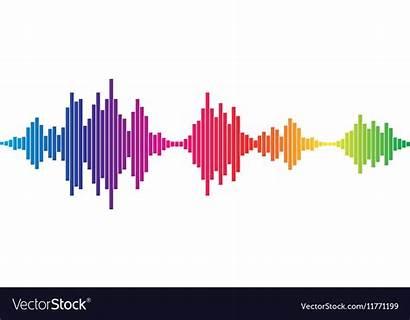 Sound Waves Vector Colorful Royalty Vectors