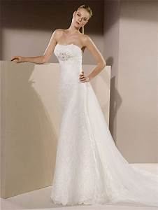 slim fitted strapless lace beaded crystal wedding dress With strapless fitted wedding dresses