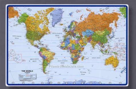 world map desk map of the world desk mat direct map