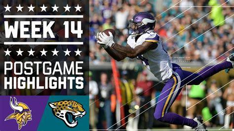 vikings  jaguars nfl week  game highlights youtube