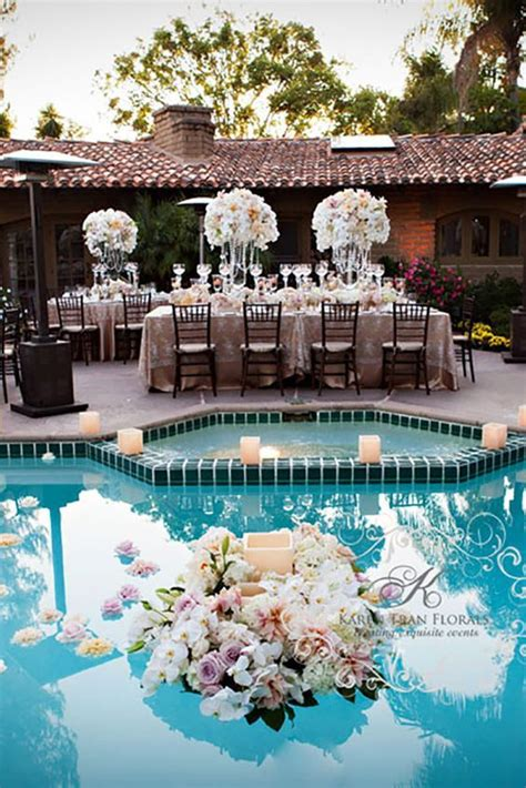 captivating wedding pool party decoration ideas