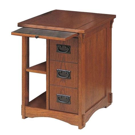 side table with l and magazine rack powell furniture mission oak magazine rack cabinet