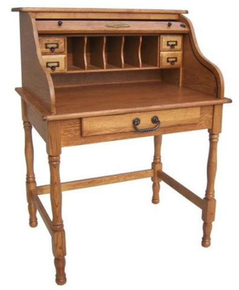 wooden roll top desk 28 quot oak mini rolltop desk antique harvest