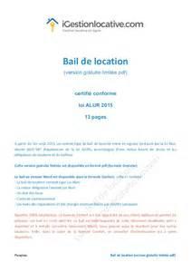 Bail Location Meublé Modèle by Bail De Location Gratuit