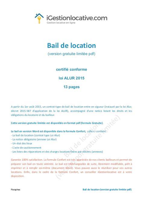 bail location bureau contrat de location maison individuelle gratuit segu maison