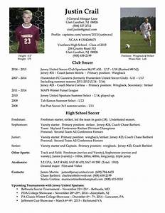 college soccer player resume soccer pinterest With football cv templates free