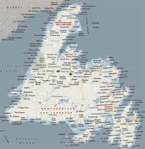 Newfoundland Map with Places