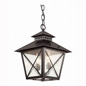 Bel Air Lighting Farmhouse 2 Light Outdoor Hanging Black