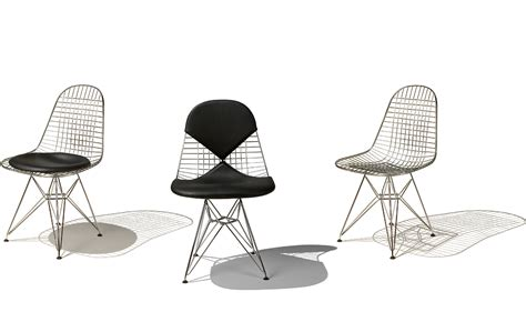 eames 174 wire chair with pad hivemodern