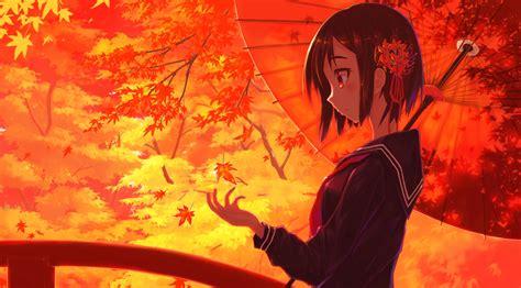 Fall Anime Wallpaper - original hd wallpaper background image 2100x1165 id