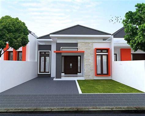 desain rumah minimalis type tampak depan lantai teras batu