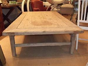 Huge rustic plank top coffee table at 1stdibs for Plank top coffee table