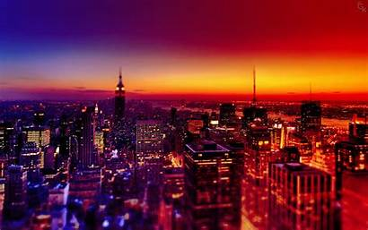 Night Wallpapers Desktop Background 3d Future Landscape