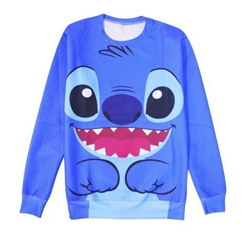 kawaii blue lilo stitch sweatshirt