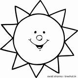 Sun Coloring Printable Craft Pages Drawing Sunshine Colouring sketch template