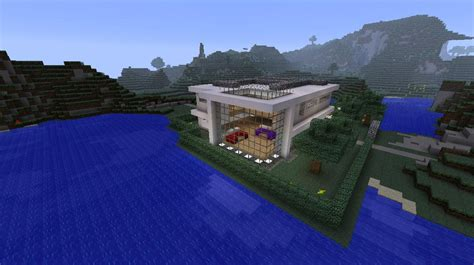 minecraft big modern house minecraft project